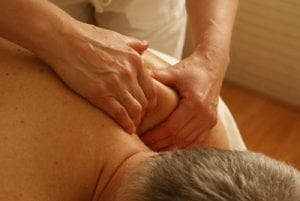 Physio treating a patient